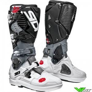Sidi Crossfire 3 SRS Motocross Boots - Black / White / Grey