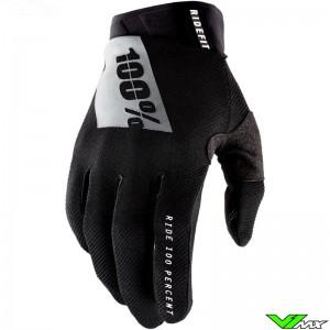 100% Ridefit 2021 Motocross Gloves - Black