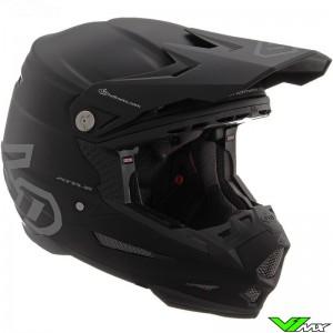 6D ATR-2 Youth Solid Youth Motocross Helmet - Black / Mat