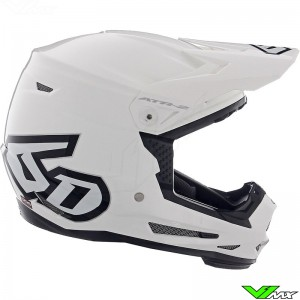 6D ATR-2 Youth Solid Youth Motocross Helmet - White / Mat