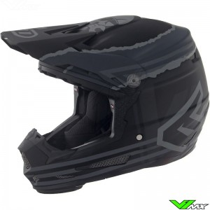 6D ATR-2 Youth Danger Boy Youth Motocross Helmet - Black