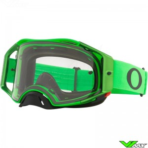 Oakley Airbrake Motocross Goggle - Green / Clear Lens
