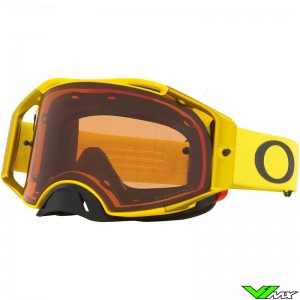 Oakley Airbrake Motocross Goggle - Yellow / Prizm Bronze Lens