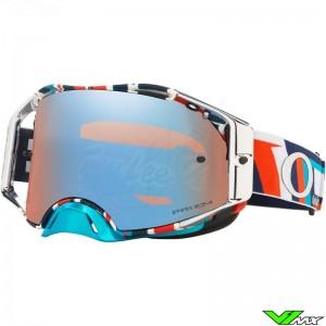 Oakley Airbrake Motocross Goggle - TLD Quattro / RWB / Prizm Sapphire Lens
