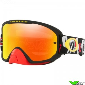 Oakley O Frame 2.0 Pro MX Crossbril - TLD Anarchy / Zwart / Fire Iridium Lens