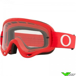 Oakley O Frame Motocross Goggle - Red / Clear Lens