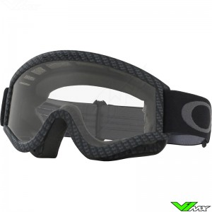 Oakley L Frame Motocross Goggle - Carbon / Clear Lens