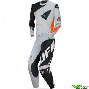 UFO Slim Frequency 2021 Motocross Gear Combo - Grey / Orange