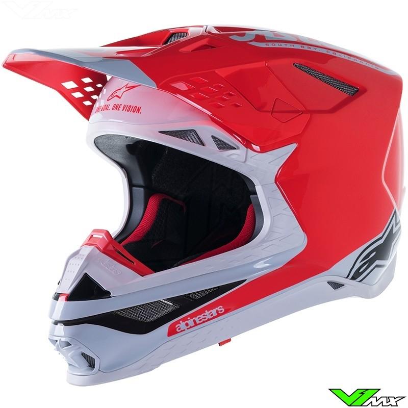 Alpinestars Supertech S-M10 Angel Limited Edition Motocross Helmet - Fluo Red / Black
