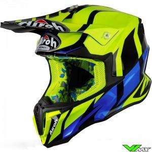 Airoh Twist Motocross Helmet - Yellow / Blue