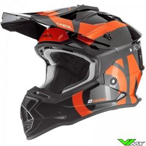 Oneal 2 Series Youth Slick Motocross Helmet - Black / Orange