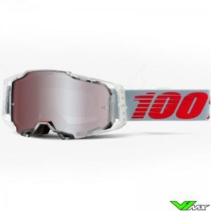 100% Armega XRAY Motocross Goggle - Hiper red lens