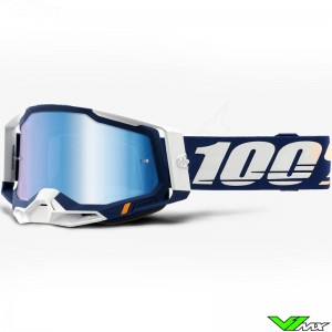 100% Racecraft 2 Concordia Crossbril - Spiegellens Blauw
