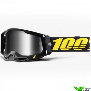100% Racecraft 2 Arbis Crossbril - Spiegellens Zilver
