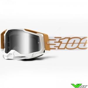 100% Racecraft 2 Mayfair Crossbril - Spiegellens Zilver