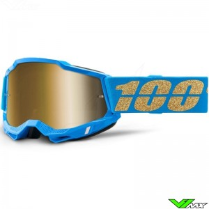 100% Accuri 2 Motocross Goggle - Mirror Gold Lens