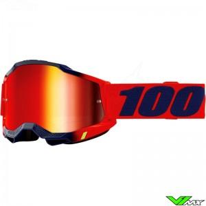 100% Accuri 2 Kearny Motocross Goggle - Mirror Red Lens