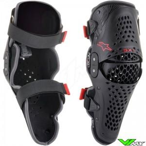 Alpinestars SX-1 V2 Knie bescherming - Zwart / Rood