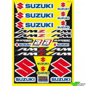 Blackbird Decal Sheet - Suzuki RM RMZ 50 x 35 cm