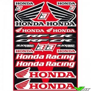 Blackbird Stickervel - Honda 50 x 35 cm