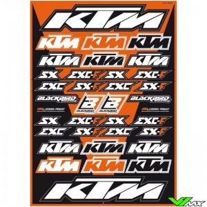 Blackbird Stickervel - KTM 50 x 35 cm