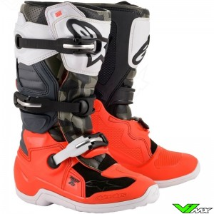 Alpinestars Tech 7s Youth Motocross Boots - Black / Fluo Red
