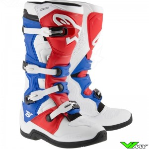Alpinestars Tech 5 Motocross Boots - Blue / White / Red