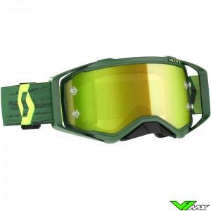 Scott Prospect Yellow Chrome Lens Motocross Goggle - Green / Yellow
