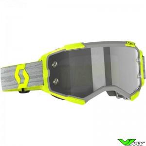 Scott Fury Light Sensitive Lens Motocross Goggle - Grey / Yellow