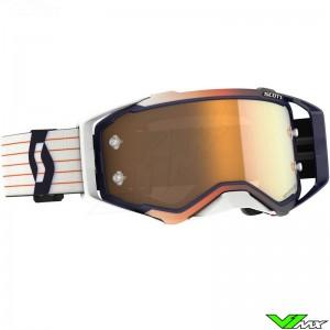 Scott Prospect Amplifier Gold Chrome Lens Motocross Goggle - Blue / White