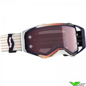 Scott Prospect Amplifier Rose Lens Motocross Goggle - Blue / White