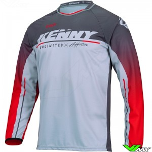 Kenny Track Focus 2022 Motocross Jersey - Grey / Red