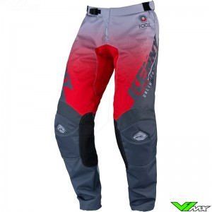Kenny Track Focus 2022 Motocross Pants - Grey / Red