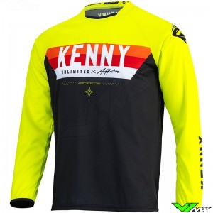Kenny Track Force 2022 Cross shirt - Fluo Geel