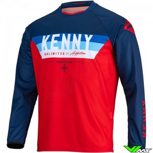 Kenny Track Force 2022 Cross shirt - Rood / Navy