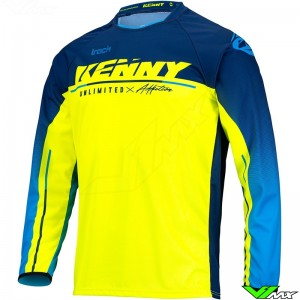 Kenny Track Focus 2022 Youth Motocross Jersey - Navy / Fluo Yellow