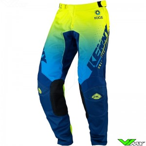 Kenny Track Focus 2022 Youth Motocross Pants - Navy / Fluo Yellow