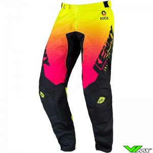 Kenny Track Focus 2022 Youth Motocross Pants - Fluo Yellow / Pink