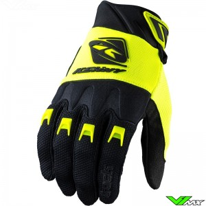 Kenny Track 2022 Youth Motocross Gloves - Fluo Yellow / Black