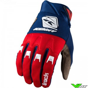 Kenny Track 2022 Youth Motocross Gloves - Navy / Red