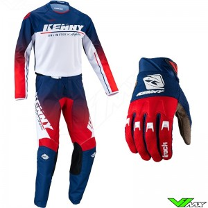 Kenny Track Focus 2022 Motocross Gear Combo - Patriot