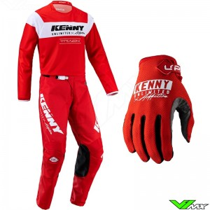 Kenny Track Raw 2022 Motocross Gear Combo - Red