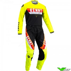 Kenny Track Force 2022 Motocross Gear Combo - Fluo Yellow