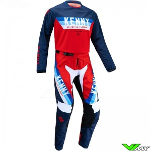 Kenny Track Force 2022 Motocross Gear Combo - Red / Navy