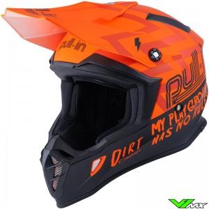 Pull In Dirt Motocross Helmet - Orange