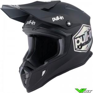 Pull In Solid Motocross Helmet - Black