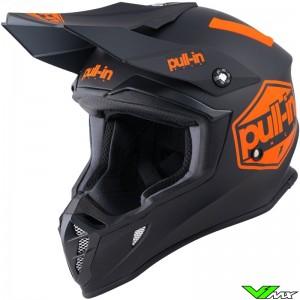 Pull In Solid Motocross Helmet - Orange