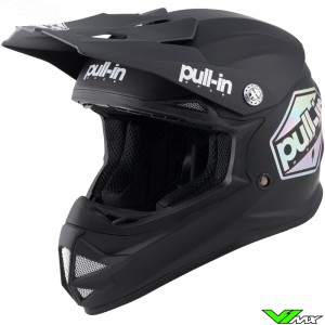 Pull In Solid Youth Motocross Helmet - Black