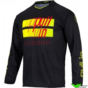 Pull In Challenger Master 2022 Motocross Jersey - Black / Fluo Yellow