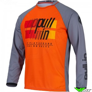Pull In Challenger Master 2022 Youth Motocross Jersey - Grey / Orange